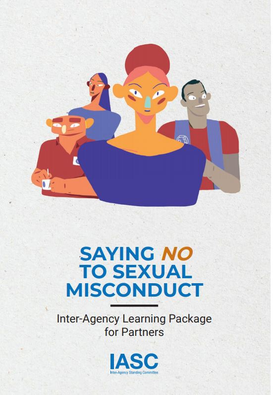 Saying no to Sexual Missconduct, cover of the brochure