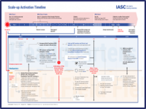 A screenshot of the IASC Scale-Up activation timeline. The details are illegible.