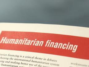 The header of a page of text which reads 'humanitarian financing'