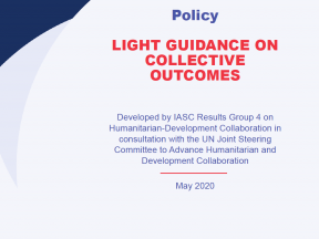 cover page for light guidance on collective outcomes