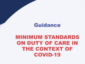 Minimum Standards on Duty of Care cover page