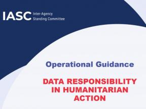Cover of the IASC Guidance on Data Responsibility in Humanitarian Action