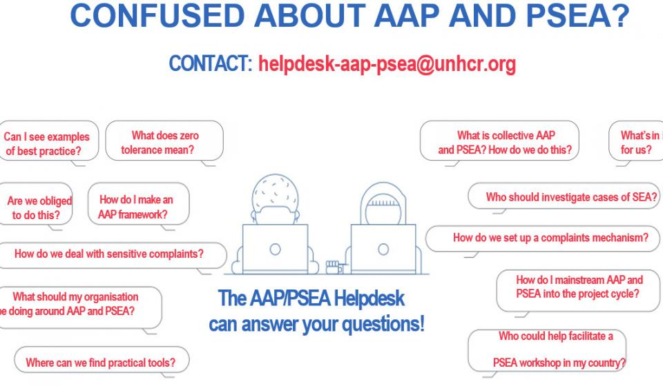 AAP PSEA Helpdesk Poster