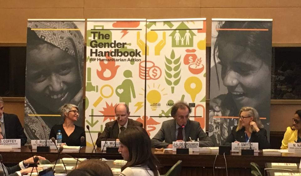 Launch of the Gender Handbook for Humanitarian Action