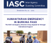A screenshot of the top of the IASC newsletter, with the first title reading 'Humanitarian Emergency in Burkina Faso'
