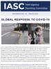 Cover photo of the IASC Newsletter number 5, with the headline: Global Response to COVID-19