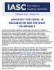 cover page of Newsletter 7 which reads the title: advocacy for COVID-19 vaccination for the most vulnerable