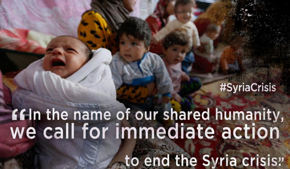 Joint appeal to end the war in Syria
